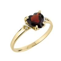 January Birthstone Ring   Garnet Ring   Gold Garnet Ring ...