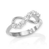 White Gold Infinity CZ Ring | Infinity Rings