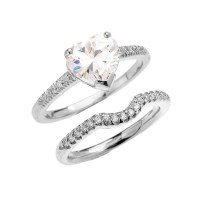 Yellow Gold Dainty Diamond Wedding Ring Set With 3 Carat ...