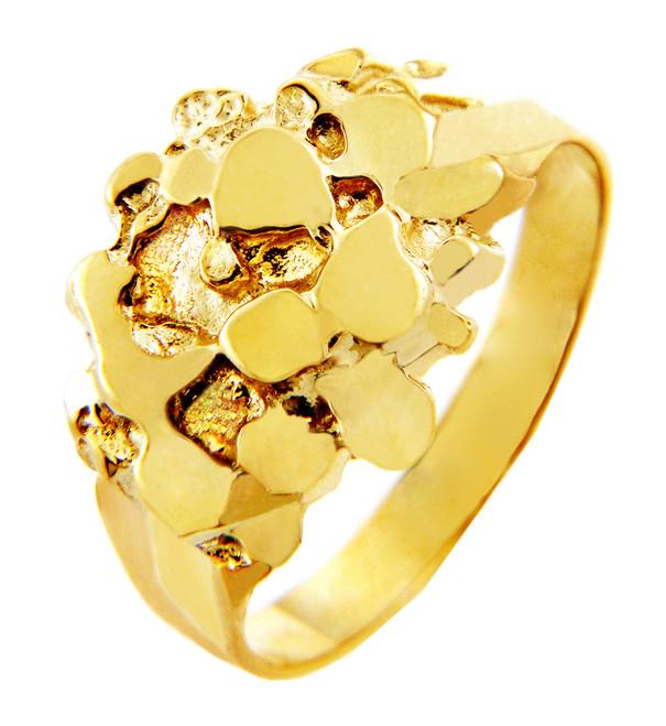 Men's Gold Nugget Rings