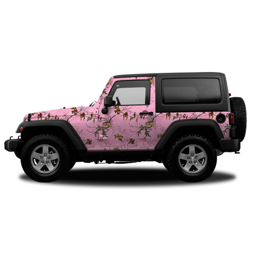 Realtree Camo Accent JeepVehicle Wrap  Free Shipping