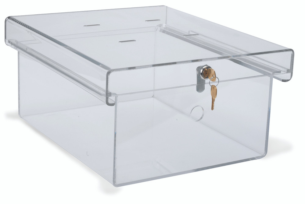 Clear Acrylic Refrigerator Lock Box (Size & Lock Options Available) - Omnimed