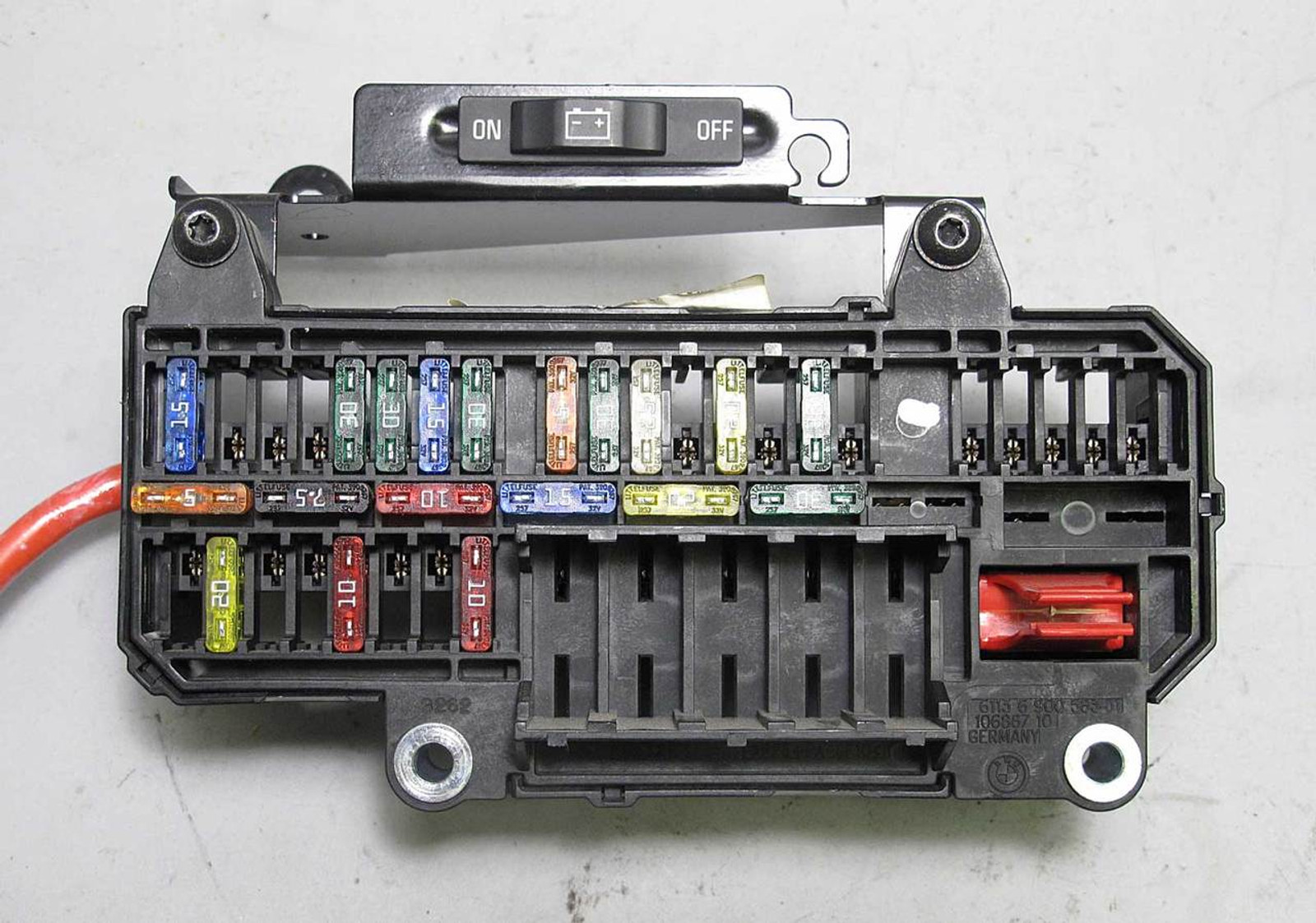 hight resolution of bmw e65 e66 7 series factory trunk mount fuse box