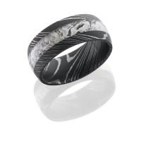 Damascus Steel King's Camo Ring | CAMOKIX