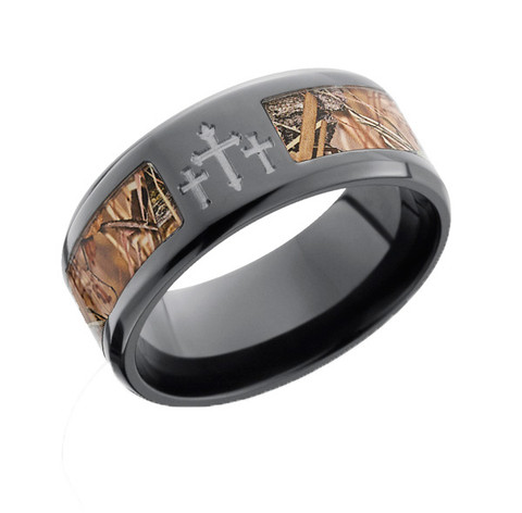 Black Camo Ring with Crosses  Free Shipping  CAMOKIX
