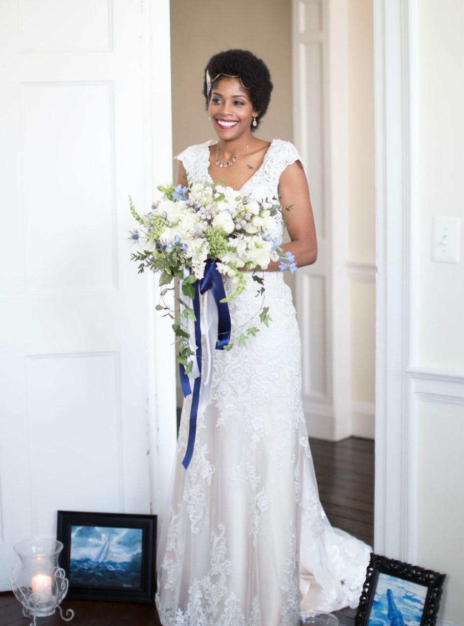 Cap Sleeves Wedding Dresses Lace Appliques Mermaid Wedding