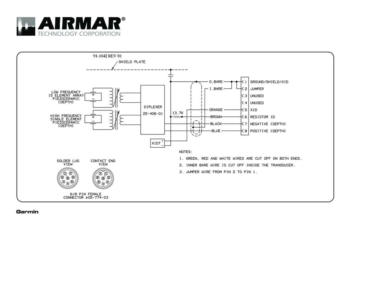 medium resolution of airmar wiring diagram garmin r199 8 pin d t blue bottle marine 8