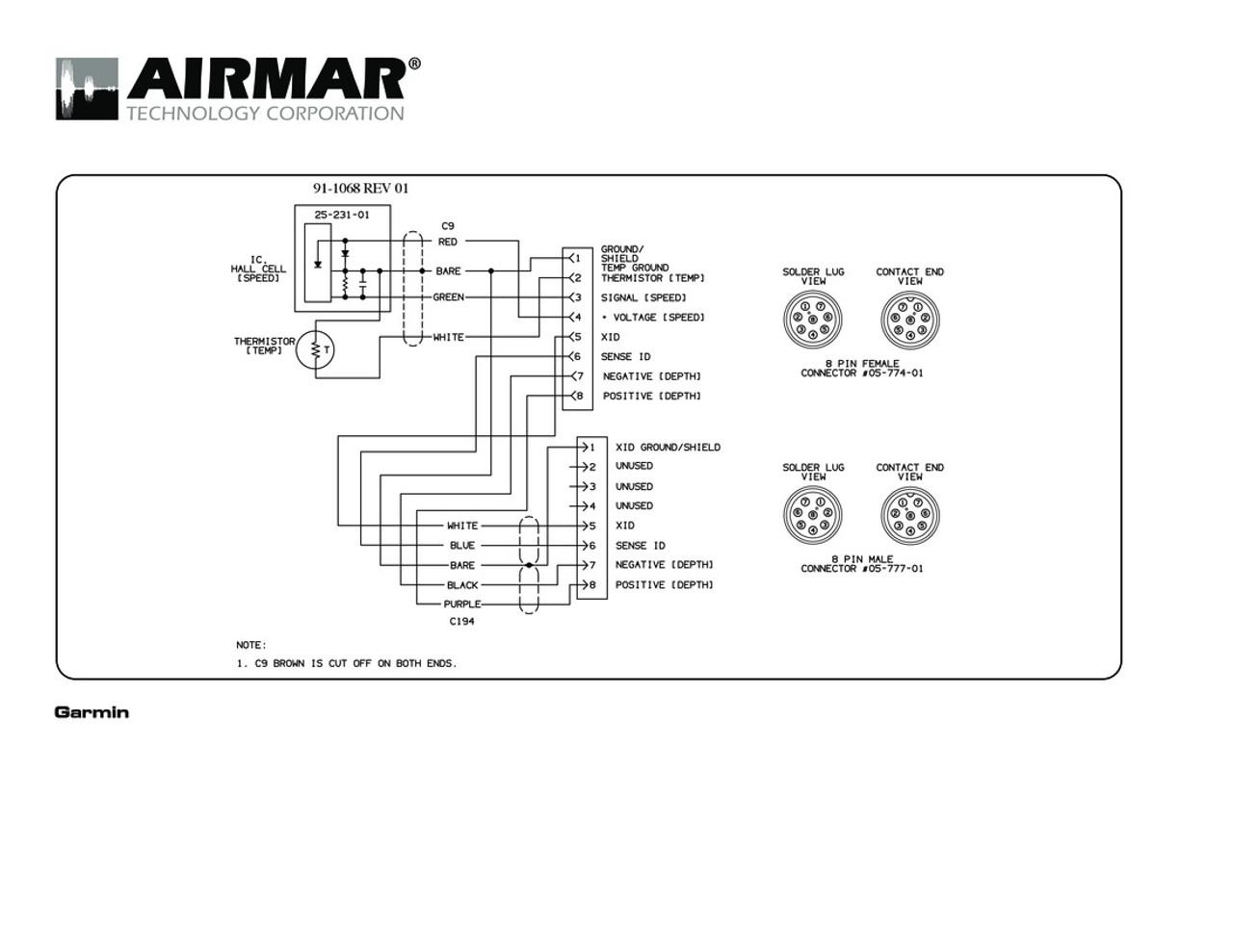 hight resolution of airmar wiring diagram garmin st850 8 pin s t blue bottle marine mirror
