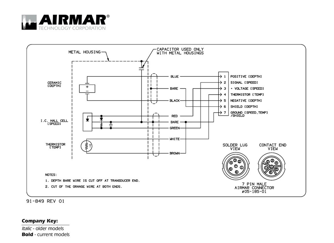 small resolution of 7 pin wiring diagram for a lowrance transducer