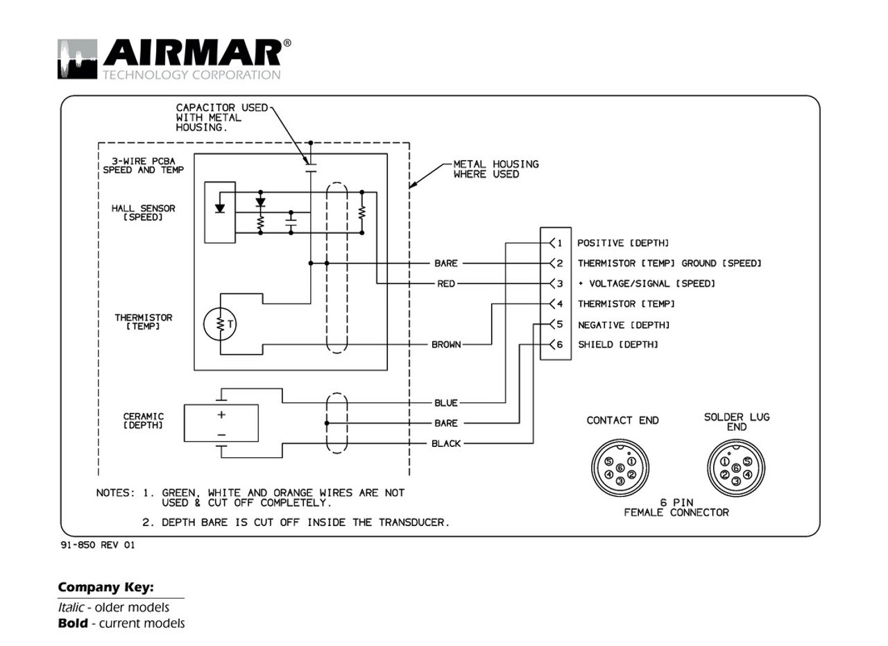 medium resolution of depth speed temperature transducers with navman northstar 6 pin connector airmar wiring diagram