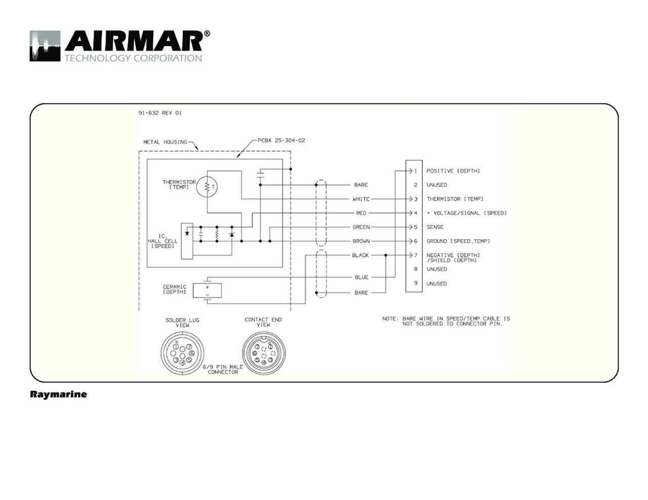 depth speed temperature transducers for raymarine a series with raymarine 9 pin airmar wiring diagram  [ 1280 x 989 Pixel ]