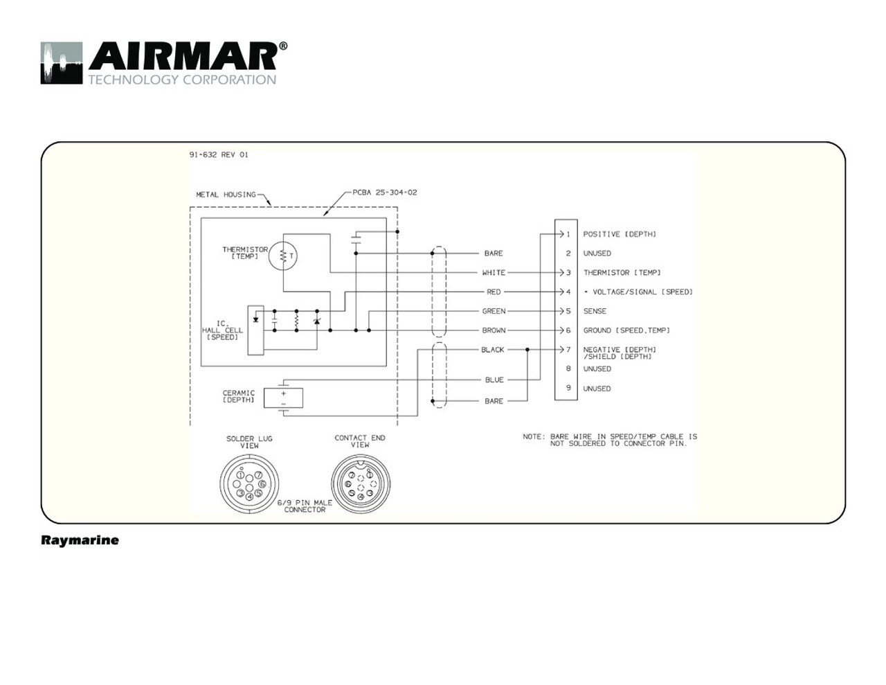 medium resolution of depth speed temperature transducers for raymarine a series with raymarine 9 pin airmar wiring diagram