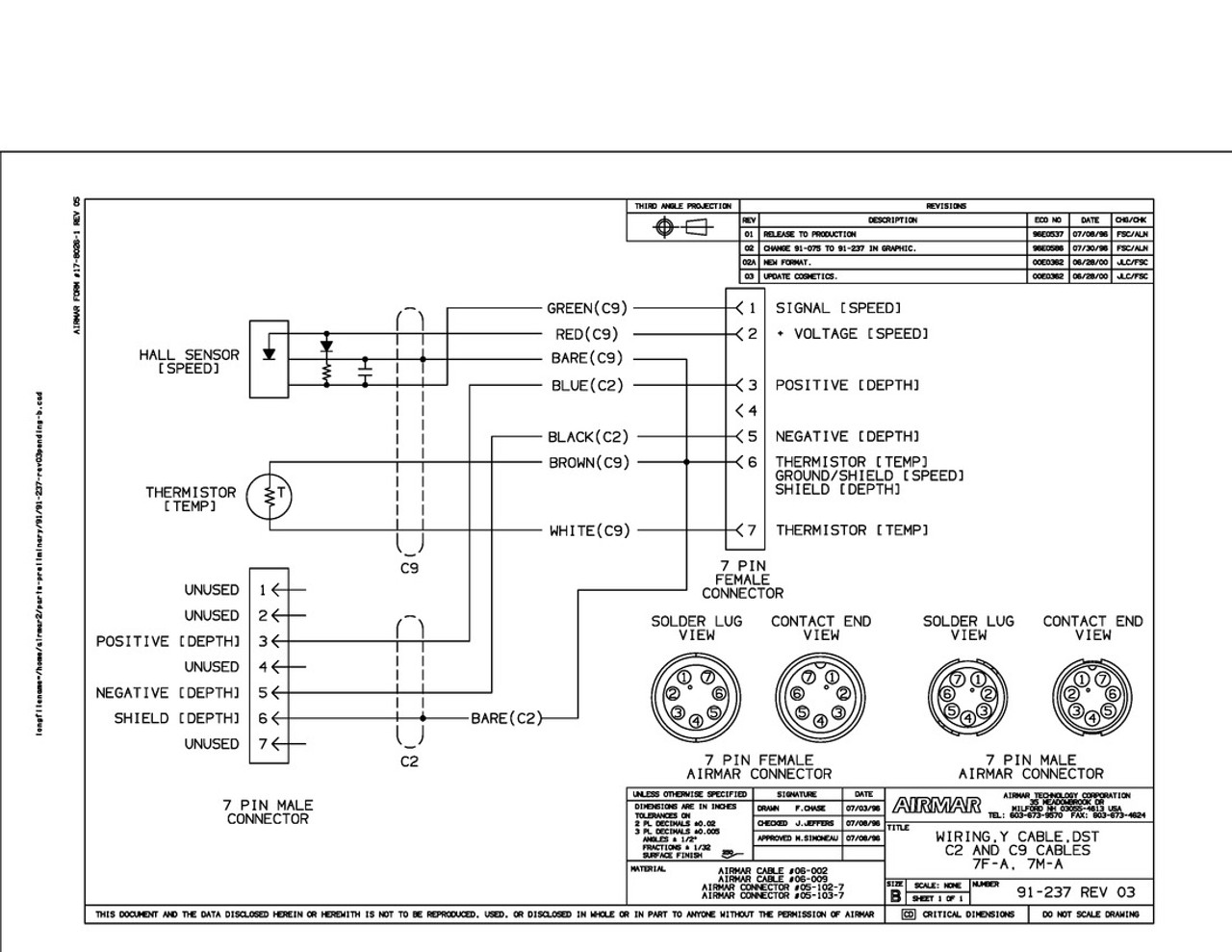small resolution of st650 st850 speed and temperature sensors with y cable for simrad 7 pin airmar wiring diagram