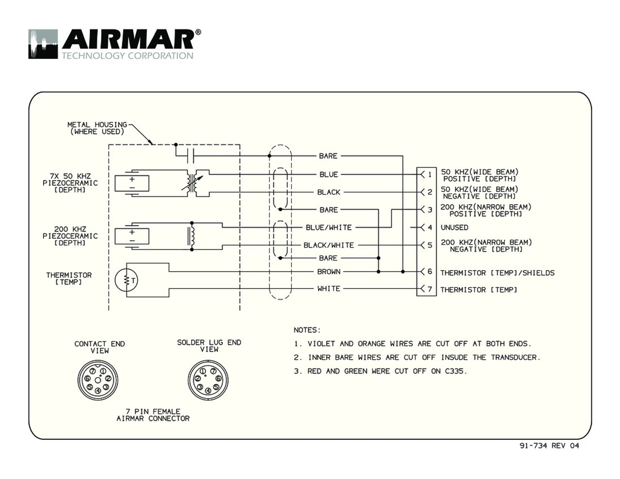 depth temperature 1kw transducers with simrad 7 pin connector airmar wiring diagram  [ 1280 x 989 Pixel ]