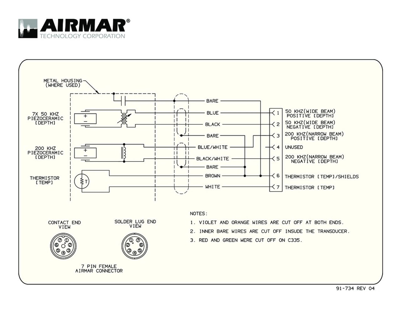 hight resolution of depth temperature 1kw transducers with simrad 7 pin connector airmar wiring diagram