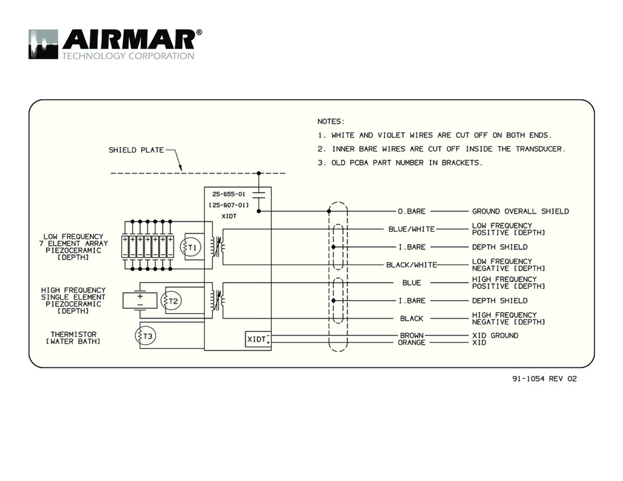 humminbird transducer wiring diagram wiring library m265c lh with bare wire cable airmar wiring diagram [ 1100 x 850 Pixel ]