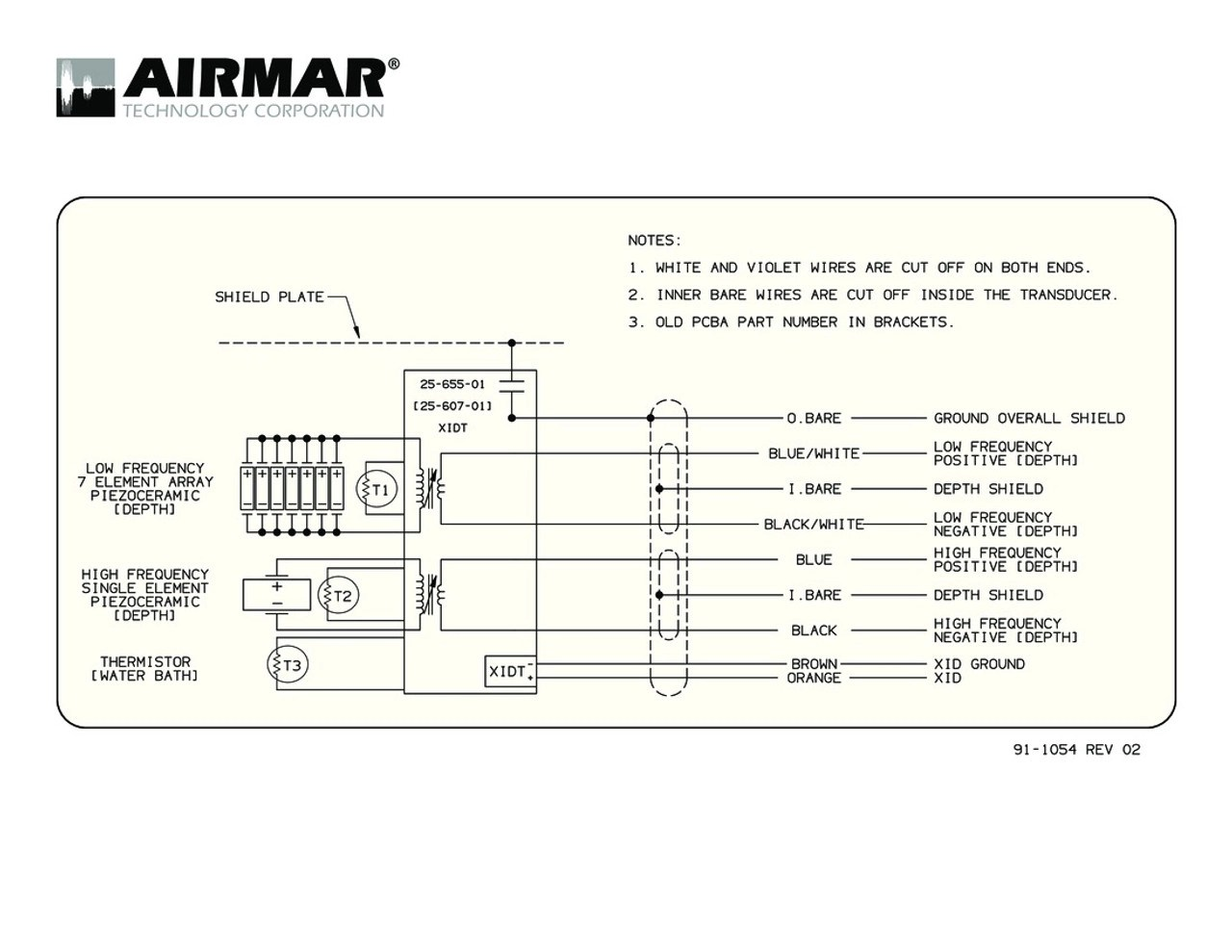 hight resolution of humminbird transducer wiring diagram wiring library m265c lh with bare wire cable airmar wiring diagram
