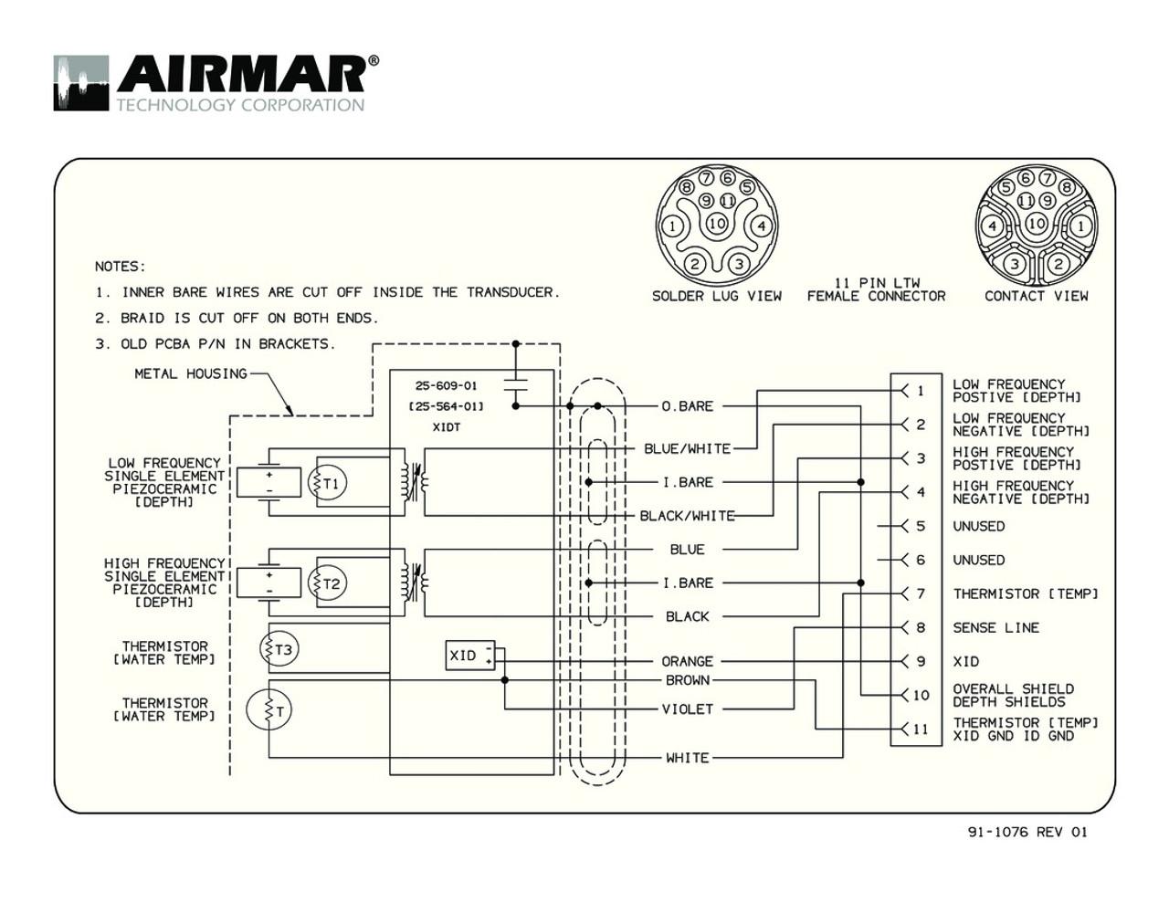 medium resolution of b765c lh with raymarine 11 pin connector airmar wiring diagram
