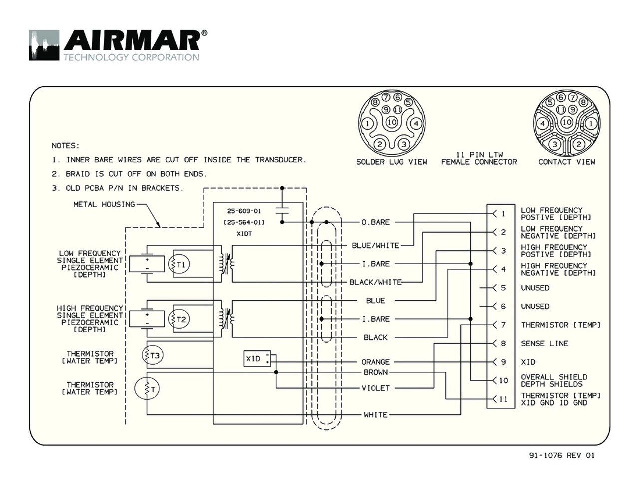 small resolution of b765c lh with raymarine 11 pin connector airmar wiring diagram