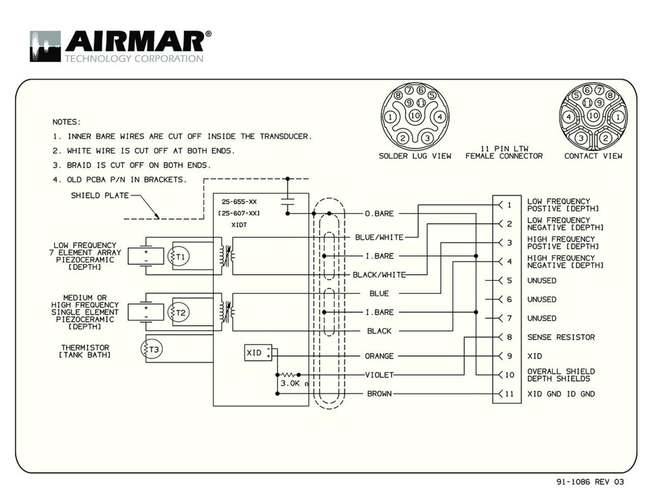hight resolution of humminbird transducer wiring diagram