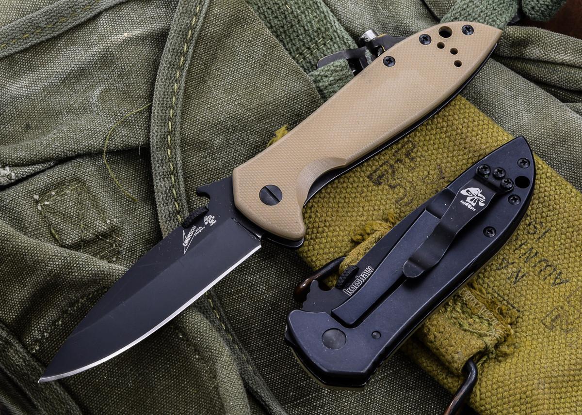 Kershaw Knives Emerson Cqc-4k - Black Finish 6054brnblk Ship Free