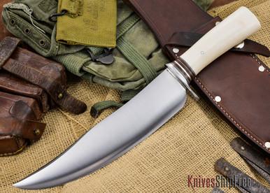 Malosh Custom Saber Camp Knife  Imitation Ivory Handle