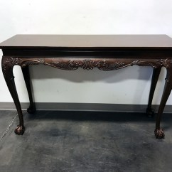 Drexel Sofa Table Antique Leather Ireland Mahogany Chippendale Taraba Home Review