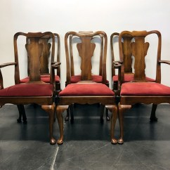 Queen Anne Side Chairs Cherry Dining Wooden Sold Out Statton Oxford Antique