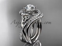 Wedding Ring Sets Platinum Celtic Moissanite Ring CT7320S