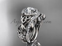 Celtic Wedding Ring Sets White Gold Diamond Ring CT7300S