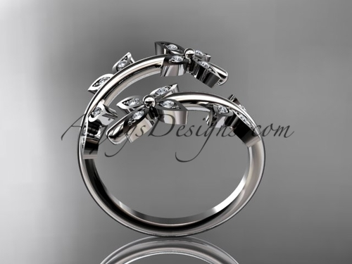 Platinum Diamond Leaf And Vine Wedding Ring Engagement