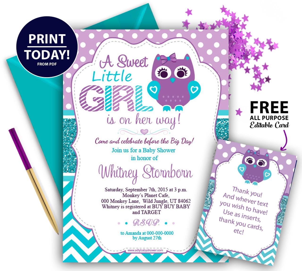 Baby Seahorse Invitations