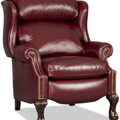 Red Wing Chair Wedding Reception Covers And Sashes Bradington Young Leather Ball Claw Recliner 4115