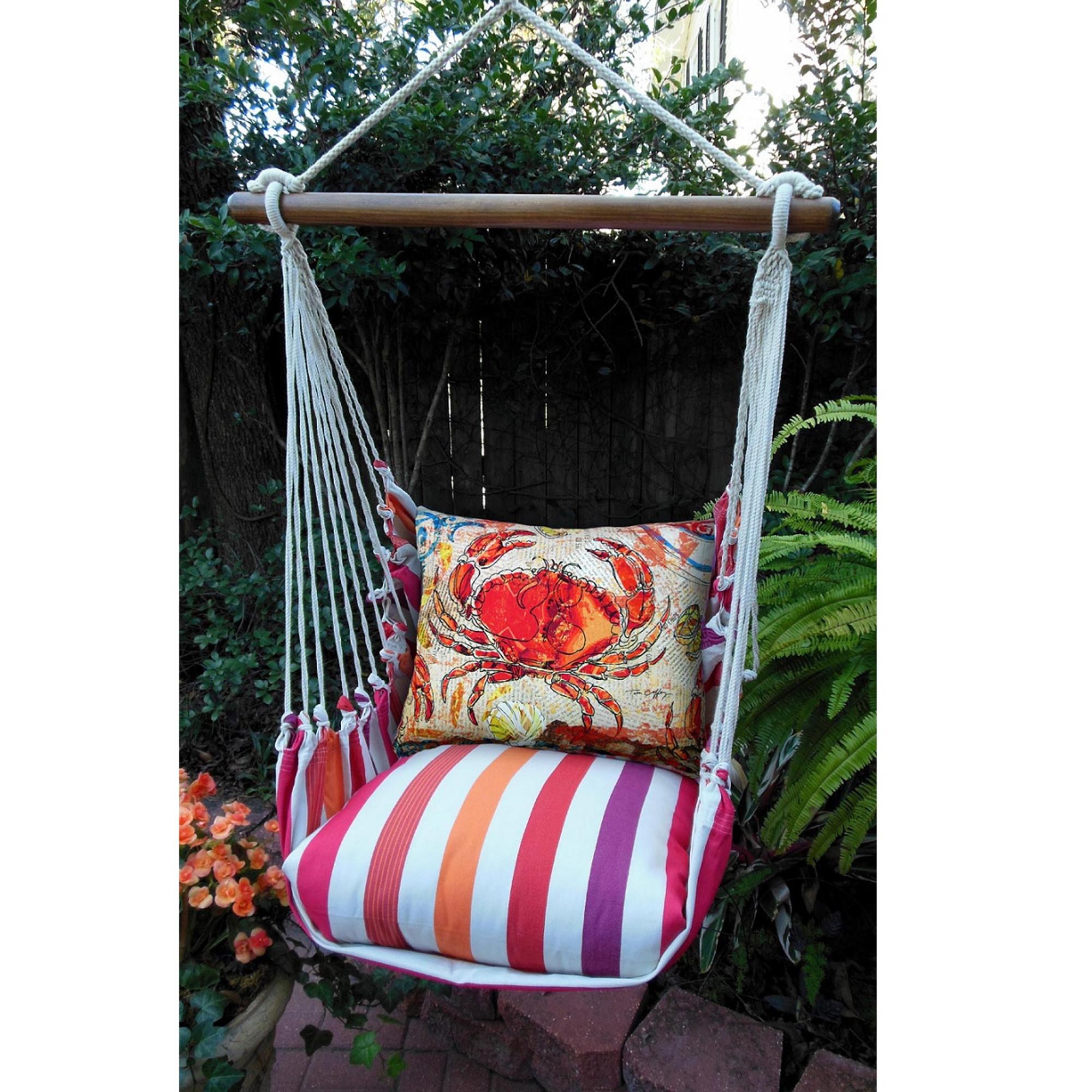 hanging chair big w homecrest covers crab striped hammock swing cristina stripe