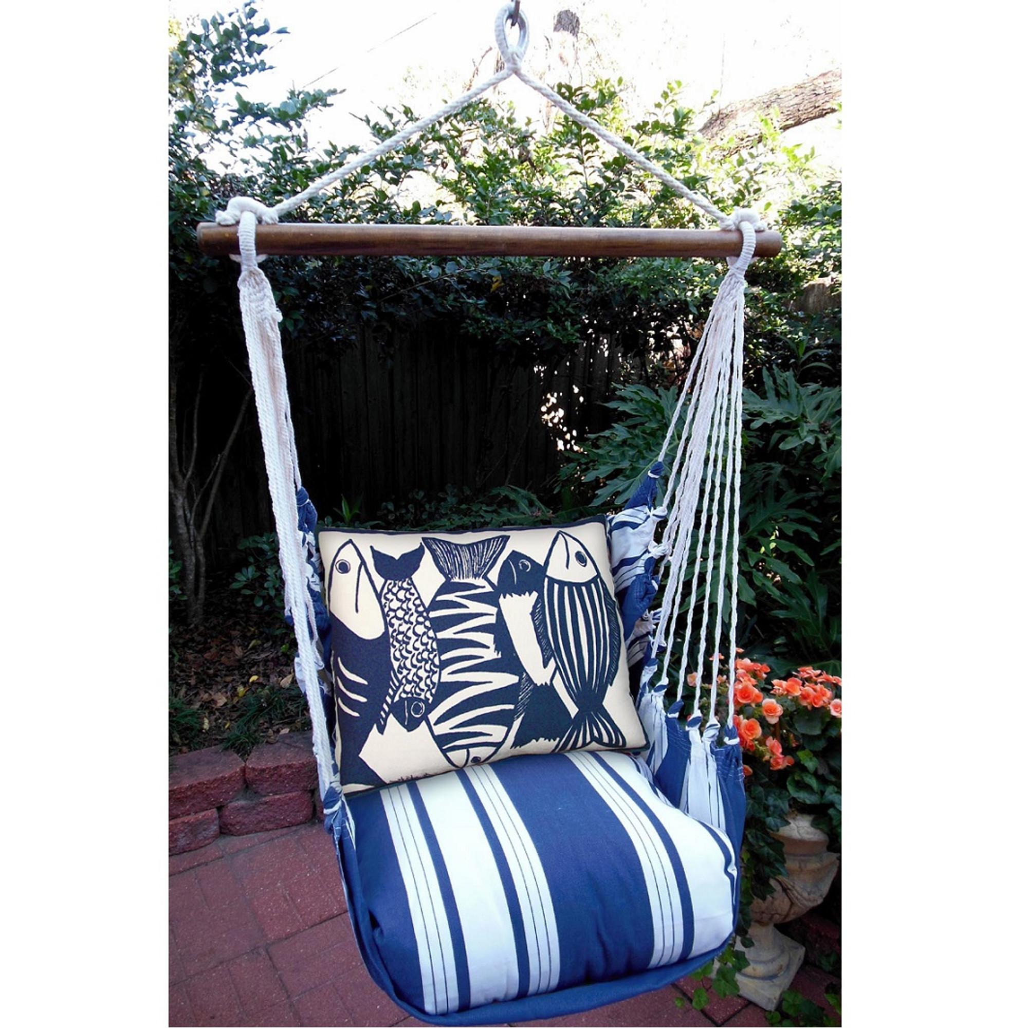 hanging chair big w most expensive massage fish nautical hammock swing marina magnolia casual