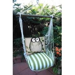 Hanging Chair Big W Silver Organza Sashes Owl Striped Hammock Swing Summer Palm Magnolia