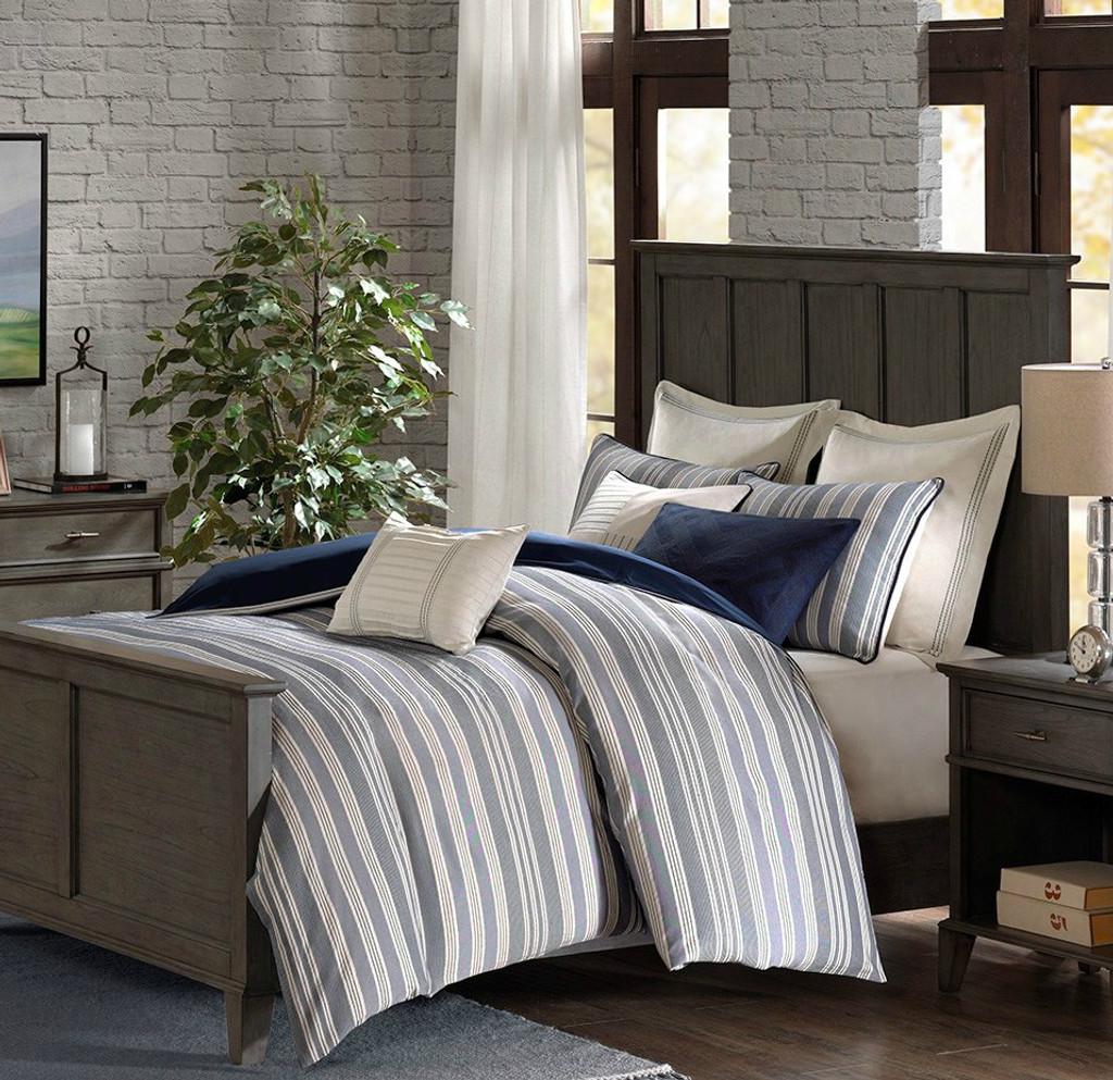 Coastal Farmhouse Comforter King Size 9 Piece Bedding