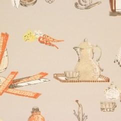 Orange Kitchen Wallpaper Blum Bins 1930s Vintage And Yellow On Beige