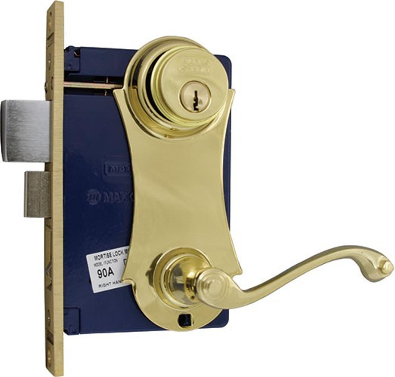 Marks Lock Ornament Unilock Lever Plate Mortise Lockset