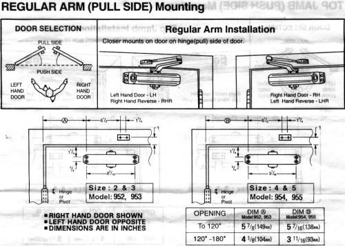 small resolution of door closer specifications sparker 950 specifications jpg
