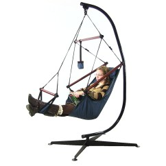 Hanging Chair Big W Steel Online Sunnydaze Deluxe Hammock Air C Stand