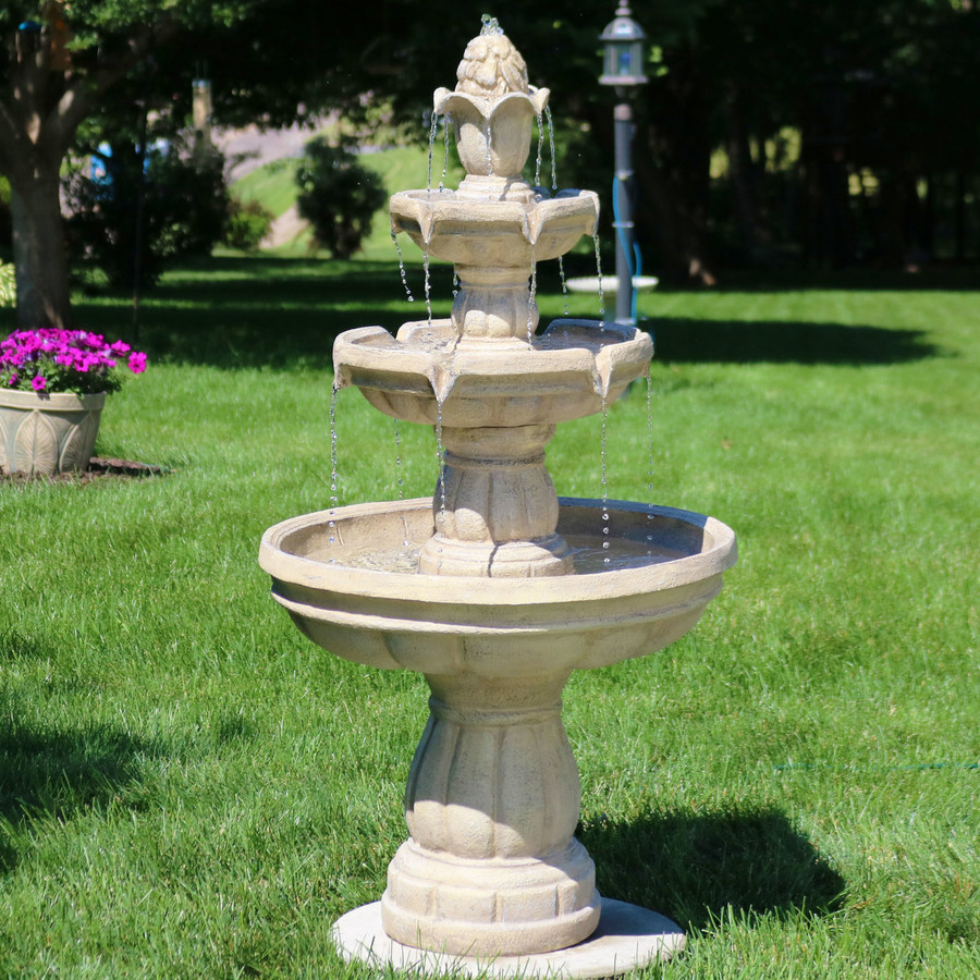 Sunnydaze Three-tier Outdoor Water Fountain Includes