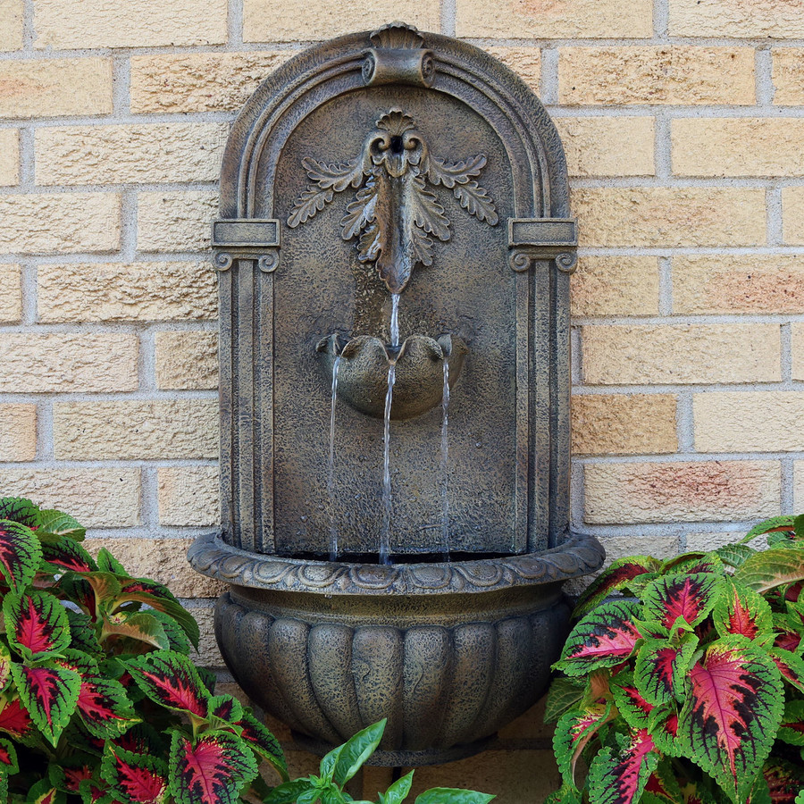 Sunnydaze Polystone Florence Outdoor Wall Fountain