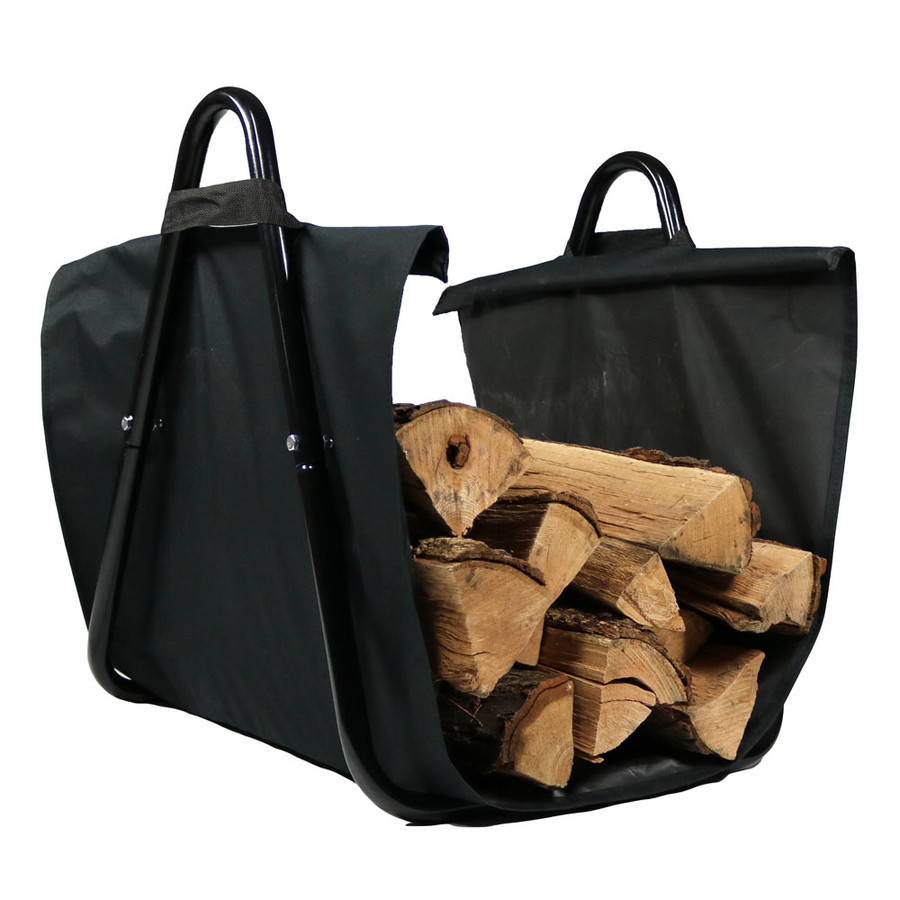Sunnydaze Canvas Firewood Log Carrier With Handles Heavy
