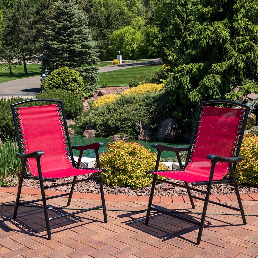 Sunnydaze Mesh Outdoor Suspension Folding Patio Lounge