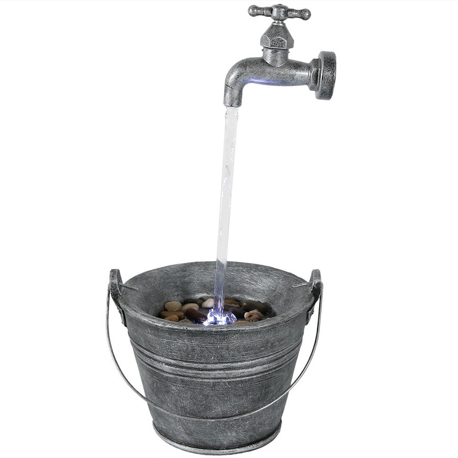Sunnydaze Floating Faucet Indoor Tabletop Water Fountain