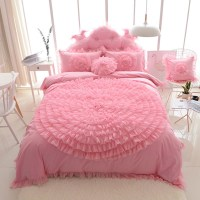 Korean Princess Style Lace Flower Fold Lace Design Duvet