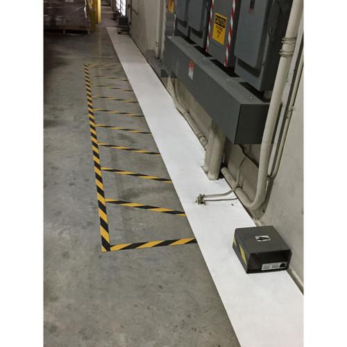 White Warehouse Floor Tape For Food Safety  Sanitation 18 x 90