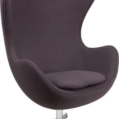 Aeron Chair Drafting Stool Revolving Bangalore Lemoderno Gray Wool Fabric Egg With Tilt-lock Mechanism - Seatingmind.com