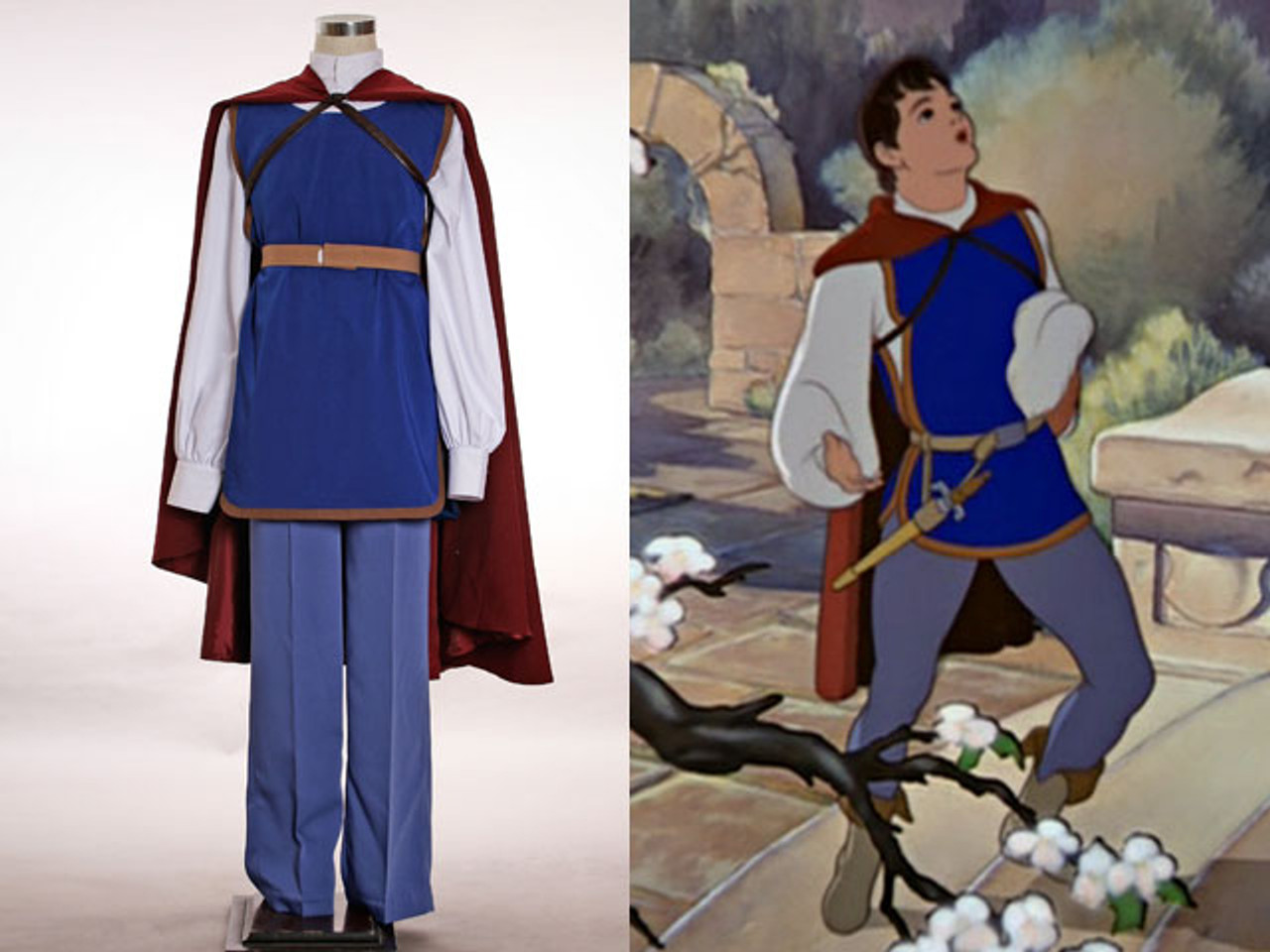 Disney Snow White And Seven Dwarfs Cosplay Prince Costume